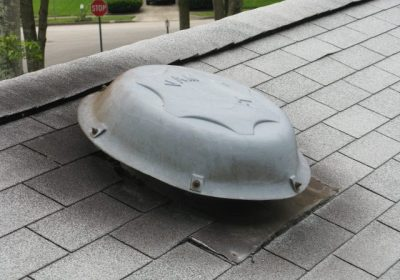 gas release on roof no metal cage