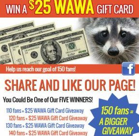 25 dollar giveaway for sharing page