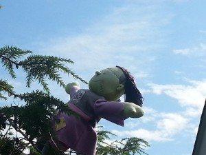 green and purple frankenstein